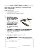 SHORT STORY WRITING, BASIC RULES FOR WRITING DIALOGUE, NARRATIVE WRITING