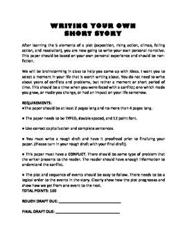 SHORT STORY WRITING GRAPHIC ORGANIZERS