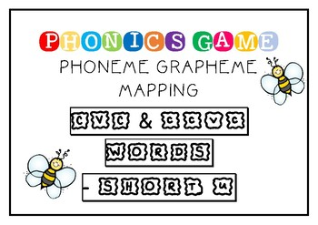 SHORT U - CVC/CCVC PHONEME GRAPHEME MAPPING GAME