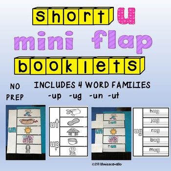 INTERACTIVE SHORT U WORD FAMILIES FLAP BOOKS