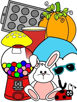 SHORT U SOUNDS CLIP ART * COLOR AND BLACK AND WHITE