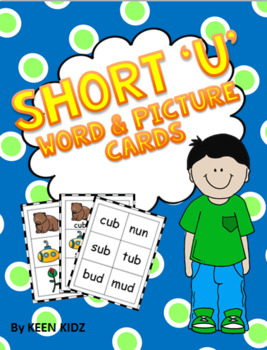 SHORT U WORD AND PICTURE CARDS
