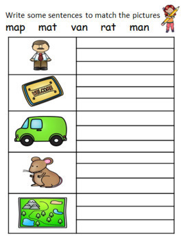 SHORT VOWEL 'A' DIFFERENTIATED WORKSHEETS FREEBIE