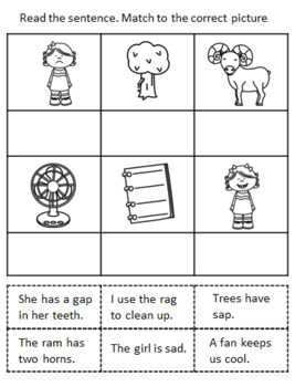 SHORT VOWEL A CUT AND PASTE SENTENCES