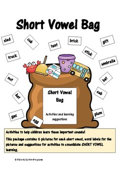SHORT VOWEL BAG- activities to help children understand short vowels