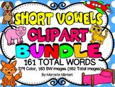 SHORT VOWEL CLIP ART BUNDLE- 162 Total Words (562 IMAGES)