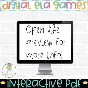 SHORT VOWEL CVC WORDS Digital Computer Games BUNDLE
