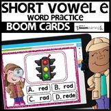SHORT VOWEL E | BOOM CARDS | Digital Task Cards