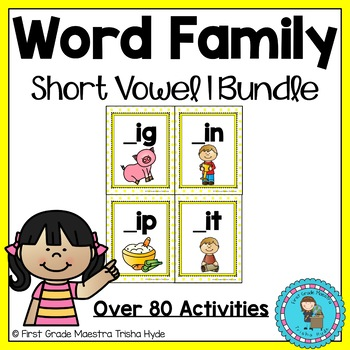 Word Family 'I' Word Work