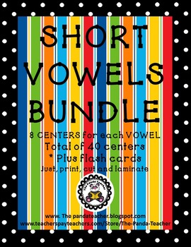 SHORT VOWEL LITERACY CENTER BUNDLE