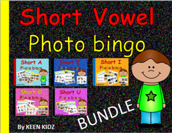 SHORT VOWEL PHOTO BINGO BUNDLE