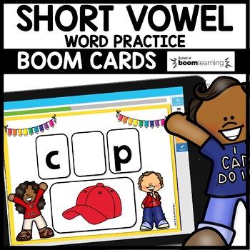 SHORT VOWEL PRACTICE | BOOM CARDS | Digital Task Cards
