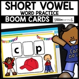 BOOM CARDS | SHORT VOWEL PRACTICE | Digital Task Cards | D