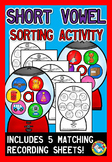 SHORT VOWEL ACTIVITIES (GUMBALL MACHINE SORTING KINDERGARTEN)