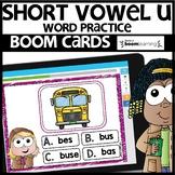 SHORT VOWEL U | BOOM CARDS | Digital Task Cards