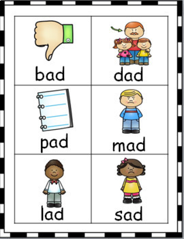 SHORT VOWEL WORD AND PICTURE CARD BUNDLE