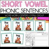 SHORT VOWEL WORD WORK SENTENCES