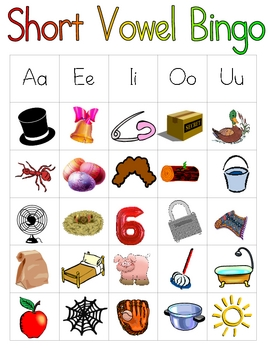 SHORT VOWEL learning center activities