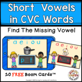 SHORT VOWELS - Missing Letters FREE