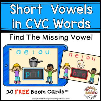 SHORT VOWELS - Missing Letters FREE