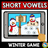 SHORT VOWELS WORD WORK (MEDIAL SOUNDS CVC ACTIVITIES WINTER BOOM CARDS) DECEMBER