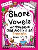 SHORT VOWELS WORKSHEETS AND ACTIVITIES cvc, ccvc FREEBIE