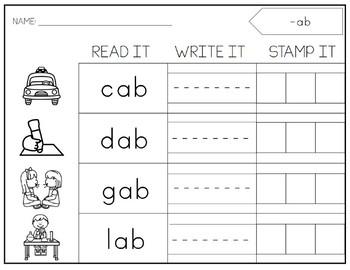 SHORT Vowels Stamping Centers. Printable. Activities.