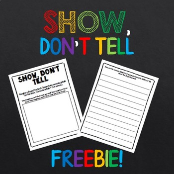 Show Dont Tell Worksheet By Lynies Lessons Teachers Pay Teachers