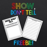 SHOW, DON'T TELL WORKSHEET
