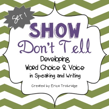 SHOW DON'T TELL Writing Through the Year, Set 1