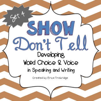SHOW DON'T TELL Writing Through the Year, Set 4
