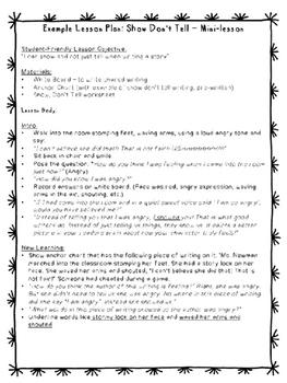 SHOW, DONT TELL (a mini lesson)