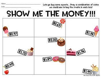 SHOW ME THE MONEY-Coin Combinations Practice