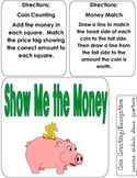 SHOW ME THE MONEY File Folder Game Coin counting/recognition