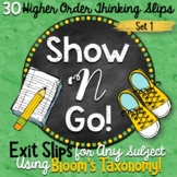 Exit Slips for Any Subject   Higher Order Thinking Skills
