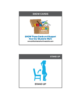 SHOW visual support cards