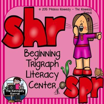 Trigraphs: SHR, SPR {Center, Cards, Mats & MORE!}
