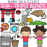 SHR- Three Letter Blends Clipart by Bunny On A Cloud
