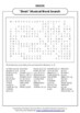 SHREK THE MUSICAL WORD SEARCH