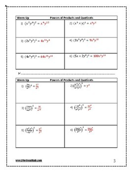 SHSAT Math Prep: Powers of Products and Quotients