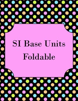 SI Base Units Foldable