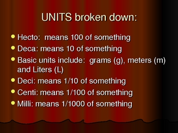 SI Unit Conversions Power Point Presentation with practice problems