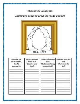 SIDEWAYS STORIES FROM WAYSIDE SCHOOL - Character Analysis