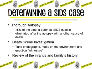 SIDS Sudden Infant Death Syndrome Unit includes Powerpoint for Child Development