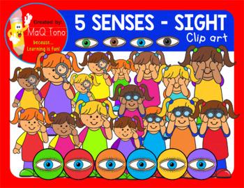 SIGHT - FIVE SENSES CLIP ART