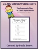 SIGHT WORD ABC ORDER~The Systematic Way to Teach Sight Words