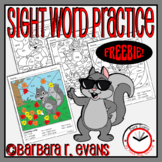 SIGHT WORD ACTIVITY Fall Coloring Pages High Frequency Words Vocabulary