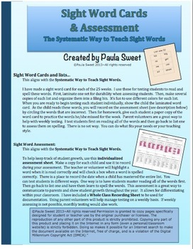 SIGHT WORD ASSESSMENT ~The Systematic Way to Teach Sight Words