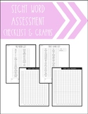 SIGHT WORD ASSESSMENT CHECKLIST & PROGRESS GRAPHS