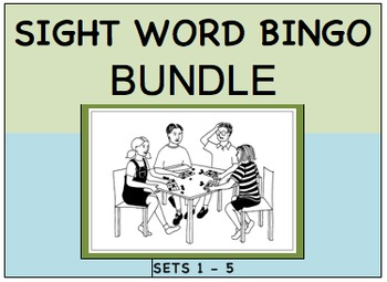 SIGHT WORD BINGO BUNDLE Sets 1 - 5